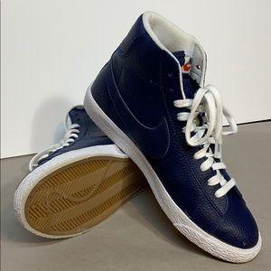Nike Blazer Mid GS Youth 7Y Hi-top Trainer   Blue